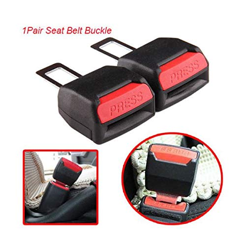 Pair Car Safety Seat Belt Buckle Extension Extender Clip Alarm Stopper Universal Quick Delivery