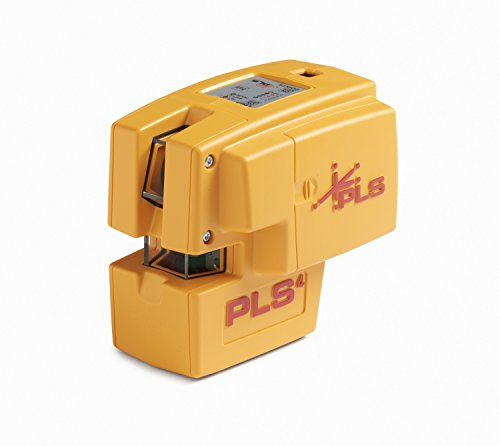 PLS 4 Red Cross Line Laser Level with Plumb, Bob and Level, PLS-60574