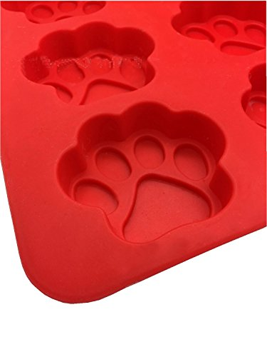 Dog Paws & Bones Fish Cake Pan, Large Silicone Dog Treats Baking Molds for Kids, Pets, Dog-lovers Cookie Cutter (Fish Paws Bones) by Ouwoow (Image #3)