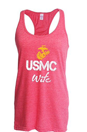 Ugo USMC Wife Seal The Proud U.S. Marines Fight to Win Matching Couple w Husband Gift for Fathers Day Homecoming Party Xmas Women's Next Level Ladies' Ideal Racerback Tank Clothes