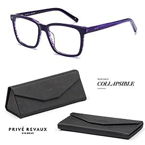 "PRIVE REVAUX ""The MVP"" Handcrafted Designer Eyeglasses (Black)"