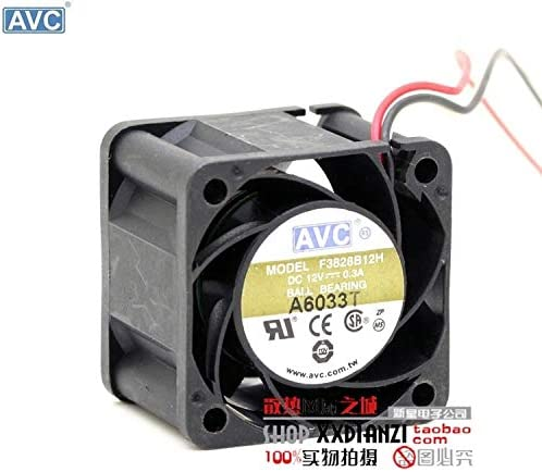 For AVC F3828B12H 3828 3.8CM 12V 0.30A three-line stall alarm tach signal server cooling fans