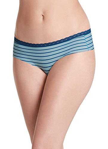Jockey Women's Underwear Wonder Edge Low Rise Cheeky Hipster, Atlantic Stripe, M