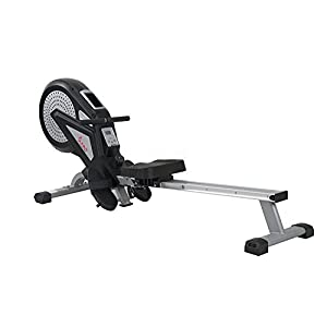 Sunny Health & Fitness SF RW5623 Air Rowing Machine Rower w/ LCD Monitor