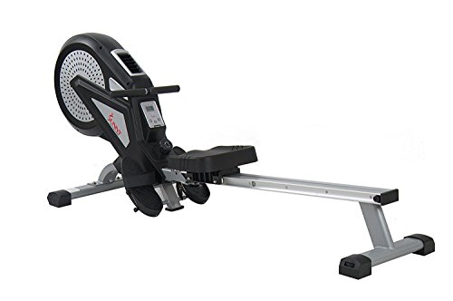 Sunny Health & Fitness SF RW5623 Air Magnetic Rowing Machine Rower w/ LCD Monitor