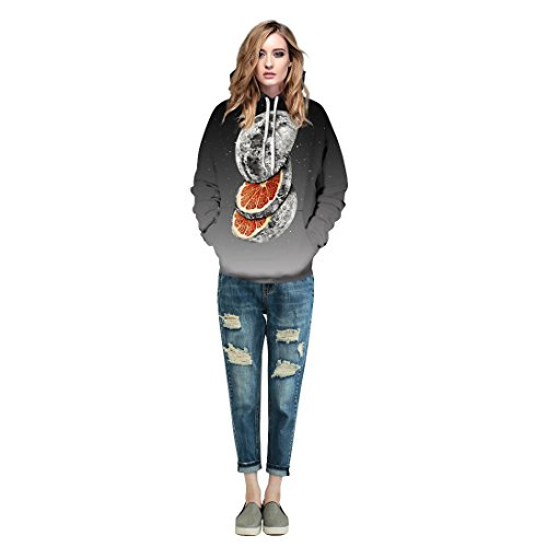 Zegoo Unisex Sweatshirts with Hat Hoody Cartoon Digital Print Fashion Brand Hoodies by Zegoo (Image #3)