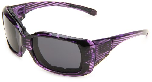 Bobster Ava Convertible Rectangular Sunglasses,Purple Frame/Smoked Anti Fog Lens,One Size