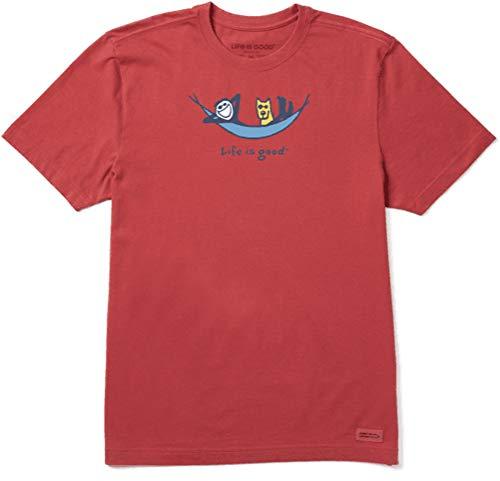 Life is Good Mens Vintage Crusher Jake & Rocket Dog Graphic T-Shirt