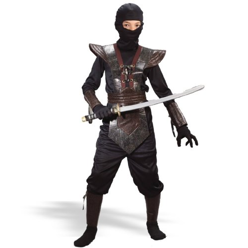 Ninja Fighter Leather Child Costume (Small/Brown) -