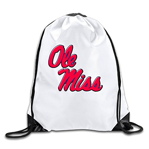 Ole Miss University Of Mississippi Men's Women's Shoulder Drawstring Bag Backpack String Bags School Rucksack Gym Handbag