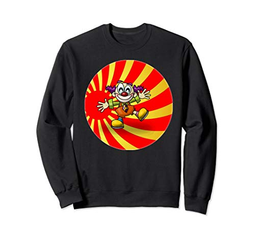 Funny Cute Circus Clown. Gift idea for kids, mom, dad.  Sweatshirt