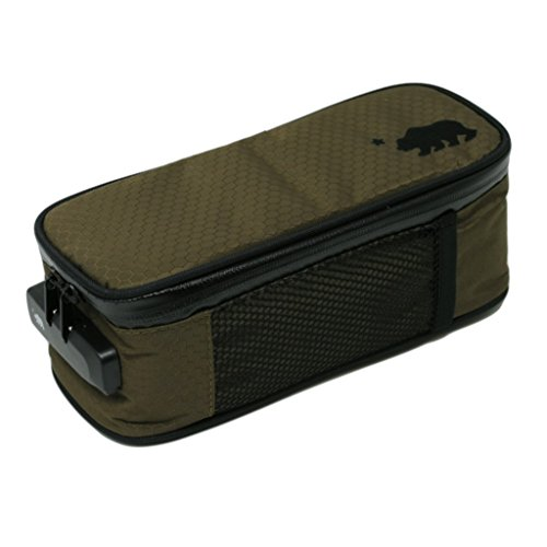 Cali Crusher 100% Smell Proof Soft Case w/Combo Lock (9.5in x 4in x 3.5in) (Olive Green) (Bong Carrying Case)