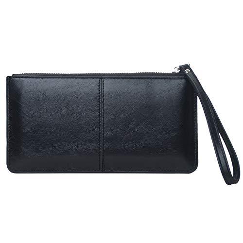 TOPTIE Large Travel Wallet PU Wristlet Clutch Purse Card Holder Organizer