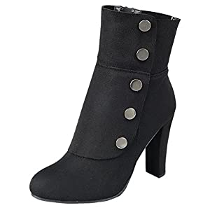 Cambridge Select Women's Victorian Steampunk Side Button Chunky Heel Ankle Boot