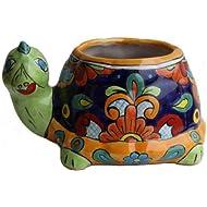 Fine Crafts Imports Multicolor Turtle Talavera Planter