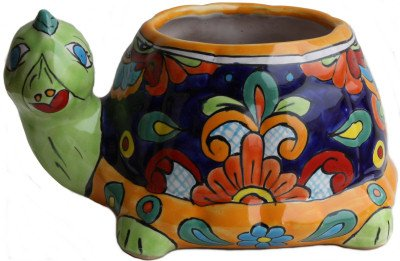 Multicolor Turtle Talavera Planter (Pottery Turtle)