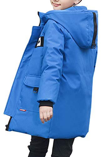 Thick Overcoat Duck Boy Blue Coat SellerFun Style B Padded Jacket Puffer Mid Down Parka Hooded Winter nfFXAzU
