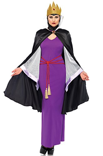 Leg Avenue Women's Deadly Dark Queen Villain Halloween Costume, Multi, ()