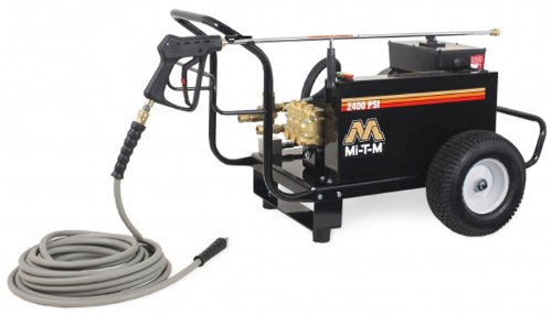 Mi-T-M CW-2405-4ME1 CW Premium Series Cold Water Electric Belt Drive, 7.5 HP Motor, 230V, 32A, 2400 PSI Pressure Washer