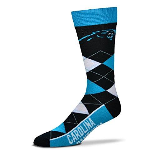 NFL Carolina Panthers Argyle Unisex Crew Cut Socks - One Size Fits (For Bare Feet Carolina Panthers Socks)
