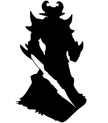 [Blk Kassadin League Of Legends Decal Vinyl Sticker Cars Trucks Walls Laptop BLACK 5.5 In URI166] (Ashe League Of Legends Cosplay Costume)