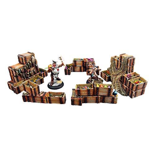 Micro Art Studio 28mm Resin Terrain Accessories - Fish Market (5 Piece Set)