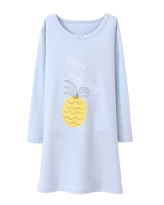 timeless design 69da9 7d0a9 Shaoyao Mädchen Fruchtdruck Nachthemd Schlafanzüge Langarm ...