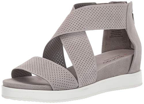 Blondo Women's Cassie Sandal, Light Grey Suede, 9.0 Medium US