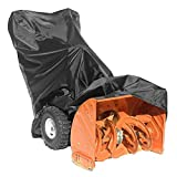 FOCCTS Snow Thrower Cover, Heavy Duty Durable Polyester, Universal Size for Most Electric Two Stage Snow Blowers with Carry Bag - All-Weather Outdoor Protection
