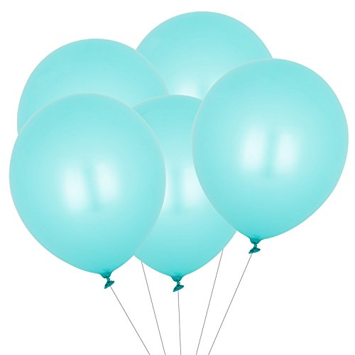 Eshanmu Blue Latex peal Balloon wedding Decoration 12inch (100pcs)