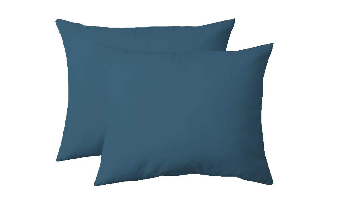 Turquoise, 1 Taie doreiller 50 x 70 cm 100/% Coton UNIVERS-DECOR Taie doreiller 50 x 70 cm 57 Fils//cm/²
