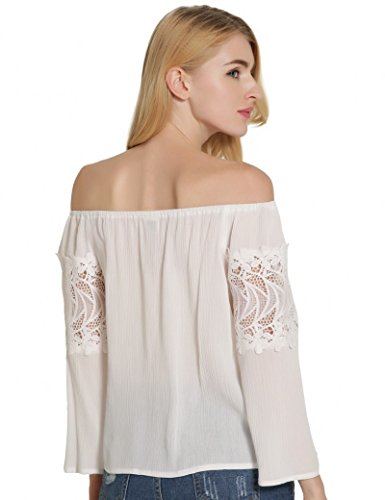 Ma Coquette Damen T-Shirt Weiß WfFtO637