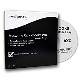 Learn QuickBooks Desktop Pro 2019 DVD-ROM Training Tutorial Course