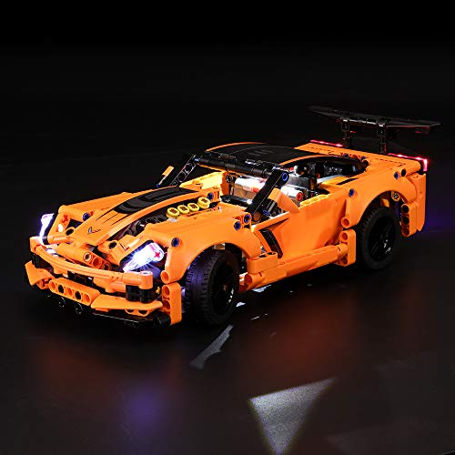 BRIKSMAX Led Lighting Kit for Technic Chevrolet Corvette ZR1 - Compatible with Lego 42093 Building Blocks Model- Not Include The Lego Set