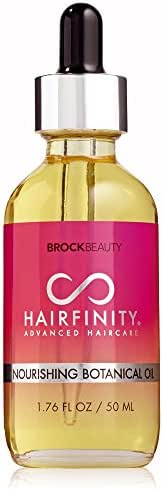 Hairfinity Nourishing Botanical Oil 100% Naturally Derived Ingredients & Essential Oils - Reduce Hair Breakage + Increase Shine & Elasticity 1.76 oz
