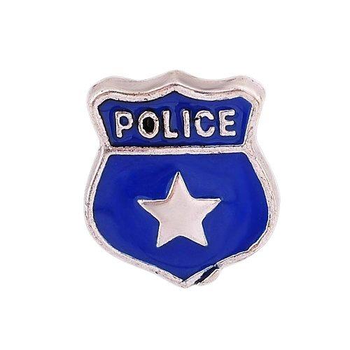 """Andante 925 médaillon Argent original FLOATING CHARM """"policier"""""""