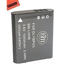 BM Premium LI-90B, LI-92B Battery for Olympus Tough TG-Tracker, Tough SH-1, SH-2, SP-100, SP-100 IHS, SP-100EE, Tough TG-1 iHS, Tough TG-2 iHS, Tough TG-3, Tough TG-4, SH-50 iHS, SH-60, XZ-2 iHS Digital Camera