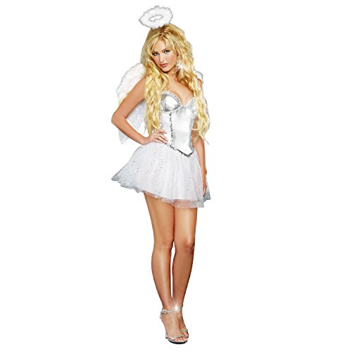 Dreamgirl Women's Angel Baby, White, Large -