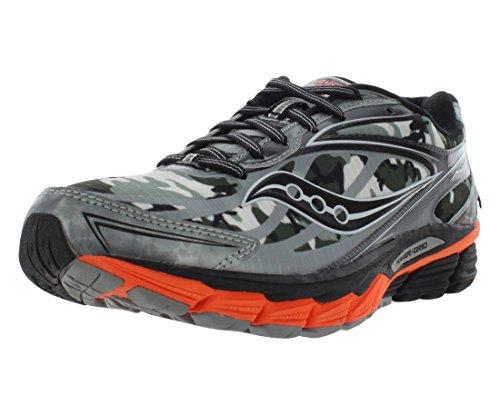 Saucony Men's Ride 8 GTX Running Shoe, White/Black/Orange,8 M US