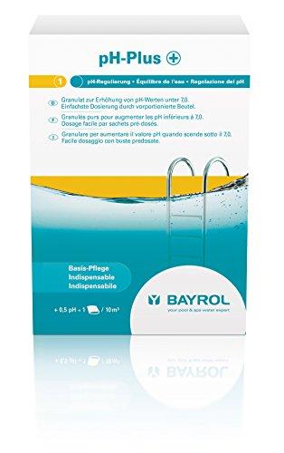 BAYROL pH Plus Granulat / pH Heber - Sehr einfache Dosierung - 3 x 500 g Dosierbeutel