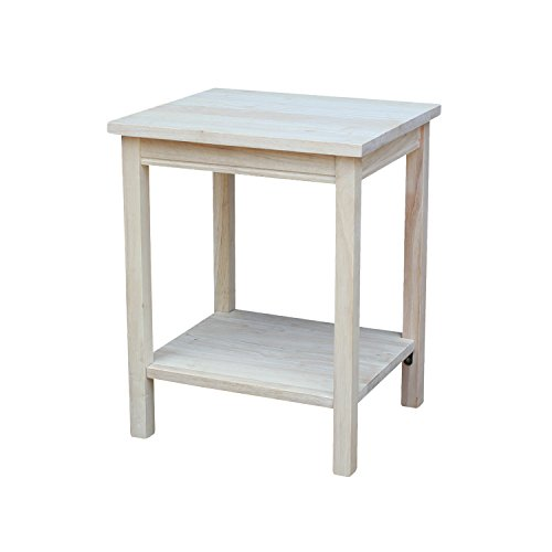 International Concepts OT041 Accent Table  Unfinished. Unfinished Wood Furniture  Amazon com