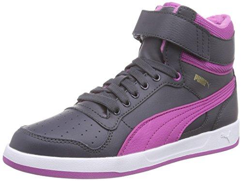 Puma Puma Liza Mid Fur Jr, Mädchen Hohe Sneakers, Mehrfarbig (periscope-meadow mauve 02), 39 EU (6 Kinder UK)