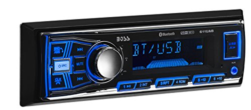 Car Stereo | BOSS Audio 611UAB Single Din, Mech-Less Multimedia Player (no CD/DVD), Bluetooth 09 Toyota Corolla Single