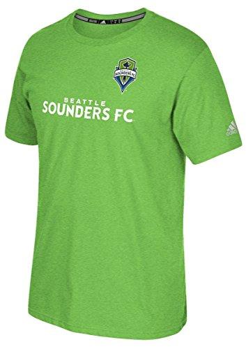 MLS Seattle Sounders Fc Men's Short Sleeve Jersey Tee, Rave Green, Medium