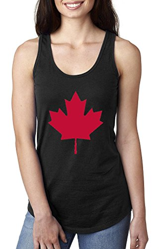 Canada Tank Top Canada Maple Leaf Womens Tops Next Level Racerback - Canada Apparel