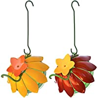 Wild Wings WWSFHF5 So Real Single Flower Hummingbird Feeder, Red/Yellow (2-Pack),