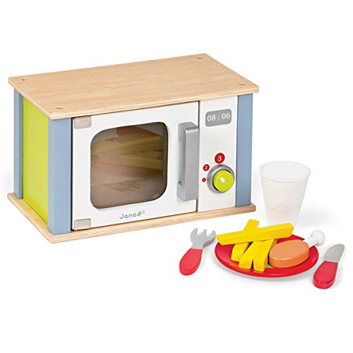 Wooden Microwave - Janod Picnik- Microwave Oven