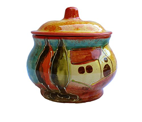 Storage Jar - 1 Quart - Hand Painted in Spain - Campo Design by Cactus Canyon Ceramics