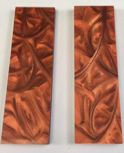 Premium S Series Make a Knife KHAORP Acrylic Burnt Orange Pearl Knife Handle Scales
