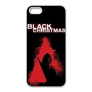 Alta Resolución Negro Navidad Cartel iPhone 5 5S caja del teléfono celular funda blanca del teléfono celular Funda Cubierta EEECBCAAH76143